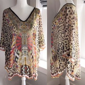 Summer Sale!! Women's Animal Print Tunic Boho